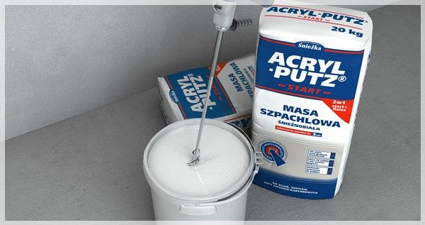 Acryl Putz ® Start - preparation of teh product: mixing